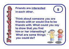Ideas for Helping Children to Make and Keep Friends in Your Classroom. Includes a free set of friendship cards