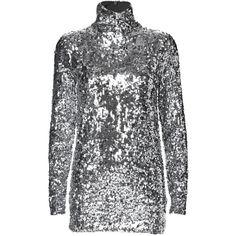 By Malene Birger Zio Sequined Turtleneck (£195) ❤ liked on Polyvore featuring tops, dresses, layered tops, polo neck top, double layer top, zipper top and turtle neck top