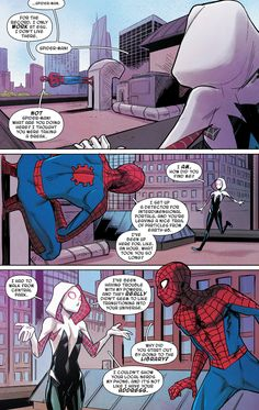 "Spider-Gwen: Ghost Spider - ""You Can't Stop the Beat"" written by Seanan McGuire art by Takeshi Miyazawa, Rosi Kampe, & Ian Herring Spiderman And Spider Gwen, Spider Girl, Spiderman Art, Amazing Spiderman, Marvel Art, Marvel Heroes, Marvel Comics, Cosplay Characters, Marvel Characters"