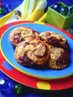 Recette : Biscuits au gruau marbrés aux brisures de chocolat   Quaker Oats