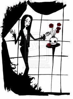 Tim Burton style Morticia