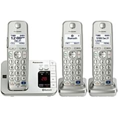 Panasonic Link2Cell KX-TGE263S DECT 6.0 1.90 GHz Cordless Phone - Silver - Cordless - 1 x Phone Line - 2 x Handset - Speakerphone - Answering Machine - Hearing Aid Compatible - Backlight