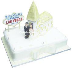 Vegas Chapel of Love Wedding Cake