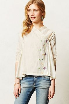 gorgeous blouse from #anthropologie. reminds me of a hanbok or kimono!