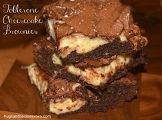 Cheesecake brownies swirled with melted Toblerone candies make an amazing brownie treat! This is a rich dessert that you won't be able to get enough of. Best Brownies, Cheesecake Brownies, Brownie Cake, Cheesecake Desserts, Baking Cupcakes, Cupcake Recipes, Dessert Recipes, Dessert Ideas, Toblerone Cake