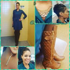 My fave color combo: Teal and Brown. #WhatsYourStyle #WorkFlow #FauxHawk