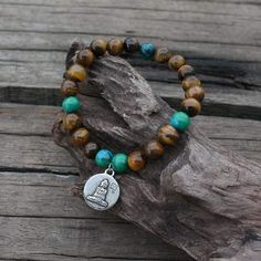 Increases Confidence Tiger Eye And Chrysocolla Necklace & Bracelet – Aromantly Increase Confidence, Tiger Eye Bracelet, Gemstone Beads, Natural Gemstones, Jewelry Design, Beaded Bracelets, Eyes, Pearl Bracelets, Human Eye