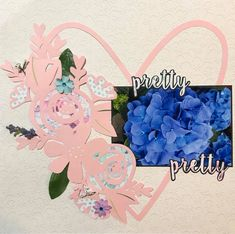 Pretty Pretty!! Simple but stunning single page layout created using FabScraps C105 Memory Lane collection.