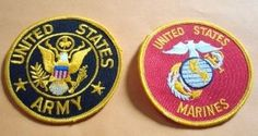 Cool item: U.S. patch Army Marines Patches