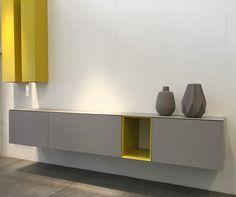 Capri serie, kleur Platina met open vak en Piccolo's in geel