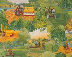 IH Farmall Tractor McCormick Scenic 100% Cotton Fabric (Sold by Yard!)