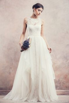 Divine Atelier Wedding Gown with a Detachable Skirt | Top Wedding Dress Trends for 2015