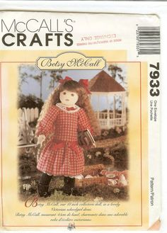 Betsy McCall Doll Pattern McCalls 8938 Sewing Pattern by Finders2, $5.00