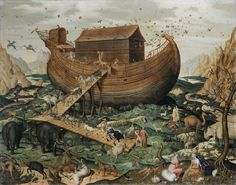 Noah's Ark on Mount Ararat, by Simon de Myle, sold 1,095,150 EUR at Sotheby's Paris in June 2011. This is the only painting known by the artist.