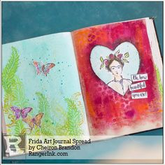 I love the Homage to Frida stamps from Dina Wakley, and I could not wait to play with these stamps in the new Mixed Media Journal. The substrates in this journal are amazing, there are four differe…