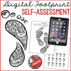 Students will assess their digital footprint while reducing stress with zen doodle coloring pages. Safe Internet, Internet Safety, Computer Class, Computer Science, Zen Colors, Digital Footprint, 6th Grade Ela, Digital Literacy, Digital Storytelling