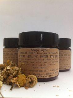 herbal healing under eye balm skin nourishing oils by SoapyLayne