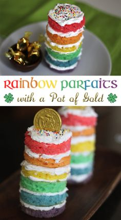 Rainbow Parfaits with a pot of gold!