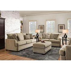 Ottoman in Cornell Platinum   Nebraska Furniture Mart