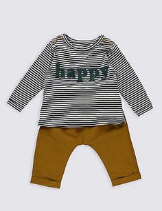3852e8a5d Look at this  zulilyfind! White   Green Stripe Mini Moto Appliqué ...