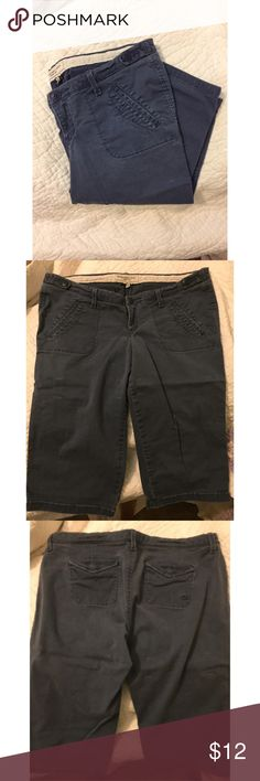 A&F Navy Bermuda Shorts Previously loved navy blue bermuda shorts from Abercrombie & Fitch. SO comfortable! Abercrombie & Fitch Shorts Bermudas