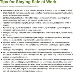 Personal Safety Tip of the Day.