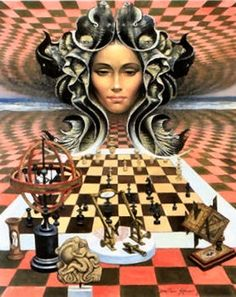 Surreal chess artwork