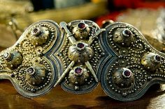 Circassian silver woman's belt.  Late 19th century.