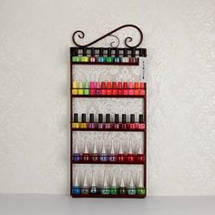 Support pr sentoir mural pour vernis ongles ou figurines - Rangement vernis a ongles mural ...