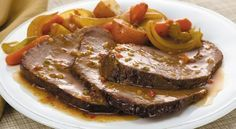 McCormick's Bag 'n Season® Pot Roast Recipe: Savor the homemade taste of tender pot roast and vegetables. The roasting bag makes the clean up quick and easy. Carne Asada, Pot Roast Recipes, Cooking Recipes, Mini Pains, Mccormick Recipes, Low Sodium Recipes, Greek Cooking, Greek Recipes, I Foods