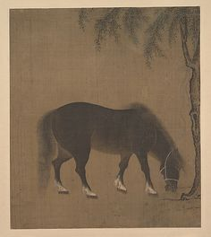 Horse and Willow Tree, early 15th century. China. The Metropolitan Museum of Art, New York. Gift of George D. Pratt, 1929 (29.20.2) #horses