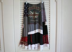 Boho Upcycled Skirt / Recycled Clothing - by Breathe-Again Clothing by BreatheAgainDesign on Etsy https://www.etsy.com/listing/217675675/boho-upcycled-skirt-recycled-clothing-by
