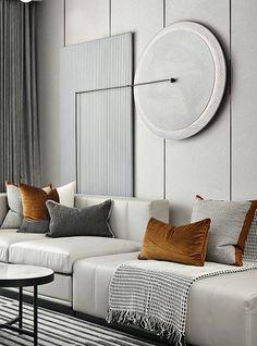 Gray Interior, Contemporary Interior, Living Room Interior, Home Interior Design, Interior Decorating, Interior Designing, Contemporary Architecture, Living Room Designs, Living Spaces