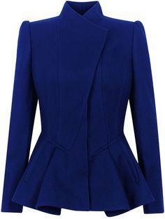 Ted Baker Wrenn Wool Peplum Jacket in Blue