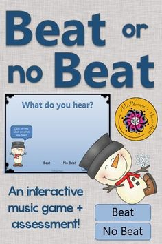 Steady beat or not? Interactive elementary music game for your kindergarten or first grade classes working on beat! Perfect music education resource and activity to add to your lesson plans! Get ready for the giggles!