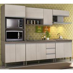 Cozinha Completa Modulada Malbec Avelã 05 Peças 7650 Peternella