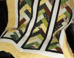 Sunshine Braided lap quilt 43 1/2 x 67 by Lovedquilts on Etsy, $75.00