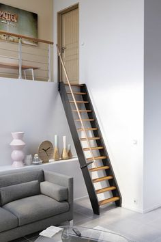 New Design Room Loft Mezzanine 64 Ideas Attic Rooms, Attic Spaces, Small Spaces, Loft Staircase, Staircase Design, Stairs To Loft, Small Space Staircase, Stair Design, Staircases