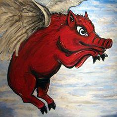 Arkansas Razorbacks All Hogs Go to Heaven