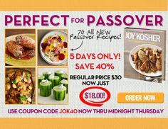 40% Off The Joy of Kosher Cookbook - 5 Days Only