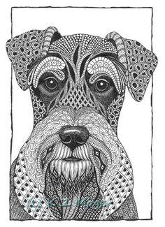 zentangle dogs - Hledat Googlem