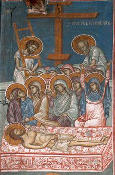Proscomidiar Religious Images, Religious Icons, Religious Art, Byzantine Icons, Byzantine Art, Tempera, Fresco, Seven Sacraments, Crucifixion Of Jesus