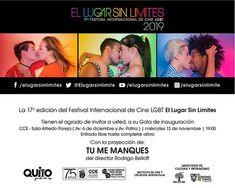 Mira el Catálogo de la 17ª edición del Festival Internacional de Cine LGBT El Lugar Sin Límites conoce el jurado las sedes los trabajos cinematográficos de la Selección Oficial 2019. Lgbt, Film Festival, Guayaquil, Social Networks, Couples