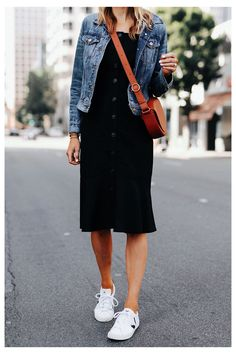 Black Dress Outfits, Spring Outfits, Casual Outfits, Dress Black, Fashion Mode, Look Fashion, Classy Fashion, Ladies Fashion, Mode Outfits