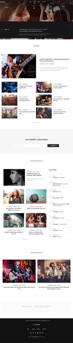 20 best Music website templates images on Pinterest | Music website ...