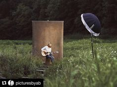 Behind the scenes by @picturesbyab : Behind the scene photoshoot with a Kentucky born singer song writer. Wanted to create an editorial look with Kentucky landscape. Used nothing but the best! @profotousa @oliphantstudio