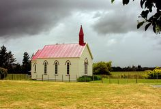 Burnside Church, Wairarapa, New Zealand - This church was built in 1875 and is a typical example of rural New Zealand churches of its era. It is still in use and beautifully preserved and maintained outside and in.
