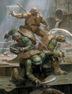 Teenage Mutant Ninja Turtles by Paolo Rivera Teenage Mutant Ninja Turtles, Ninja Turtles Art, Ninja Art, Comic Books Art, Comic Art, Geeks, Cuadros Star Wars, Deviantart, Gi Joe