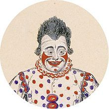 """Joseph Grimaldi (18 December 1778 – 31 May 1837) was an English actor, comedian and dancer, who became the most popular English entertainer of the Regency era.[1] In the early 1800s, he expanded the role of Clown in the harlequinade that formed part of British pantomimes, notably at the Theatre Royal, Drury Lane and the Sadler's Wells and Covent Garden theatres. He became so dominant on the London comic stage that harlequinade clowns became known as """"Joey"""", and both the nickname and…"""