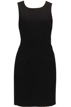 Espirit- Black polyester dress available only at Pernia's Pop-Up Shop.